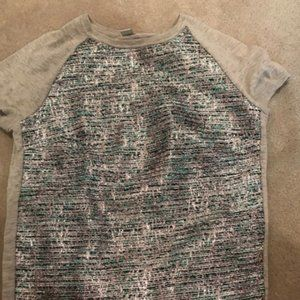 NEW Jcrew Multi Color Metallic Top